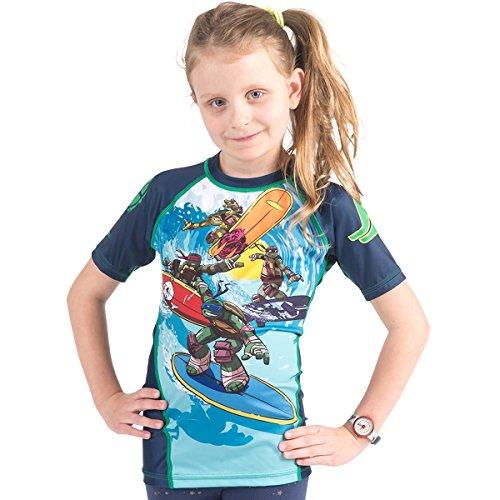 TMNT Kinder tmnt004Kanalisation Surfin Rash Guard M mehrfarbig (Ninja Schildkröte-mädchen-shirt)