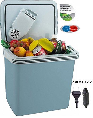 Kühlbox 24 Liter | 2in1 Kühltasche | Mini-Kühlschrank | für Auto und Steckdose | Kühlen oder Warmhalten | thermoelektrische Kühl Box | Isoliertasche | Warmhaltebox | 12 Volt | 230 Volt