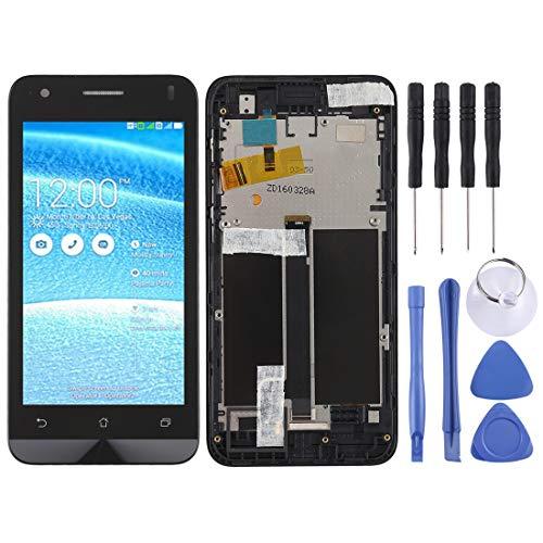Zhangl Handy-LCD-Bildschirm LCD Screen und Digitizer Full Assembly mit Rahmen für Asus Zenfone C ZC451CG (Schwarz) LCD Bildschirm (Farbe : Black) (C Asus Zenfone)