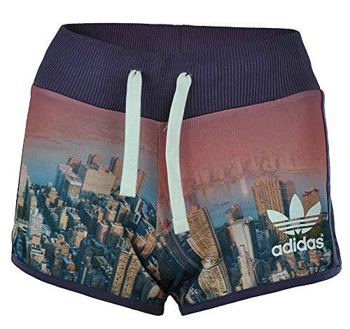 adidas Short NY AOP Skyline Originals Trefoil Damen Sport Shorts Mehrfarbig, Grösse:XXS - 28