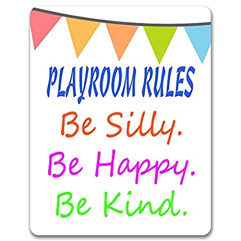 Playroom Rules; Be Silly, Be Happy, Be Kind - Playroom Sign / Plaque