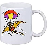 Kaffeetasse Motiv Nr. 11987 Pteradactyl mit dem Fallschirm Cartoon Spass  Fun Top Cartoon Spass Fun