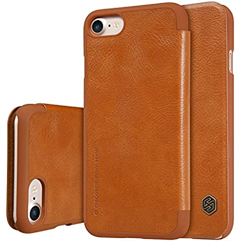 Nillkin ip7-qin-brown funda de piel Para iPhone 7, marrón