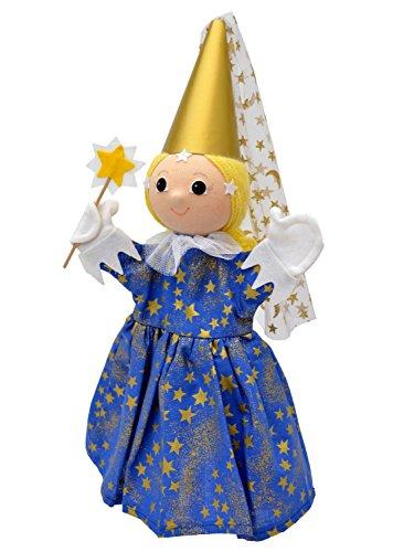 MUBRNO 22088C Fee - Mitternacht Blond Textilhandpuppe, Mehrfarbig