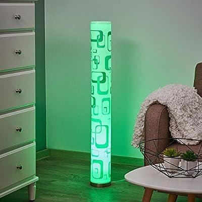 """Lampenwelt LED Stehlampe""""Mirella"""" dimmbar mit Fernbedienung (Modern) in Weiß aus Kunststoff u.a. für Wohnzimmer & Esszimmer (1 flammig, GU10, A, inkl. Leuchtmittel)   LED-Stehleuchte, Wohnzimmerlampe"""