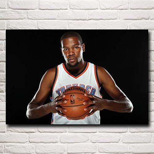 baodanla Kein Rahmen Berühmten Basketballstar Kevin Durant Kunst Silk Poster Home Wanddekoration Zoll shi60x90cm