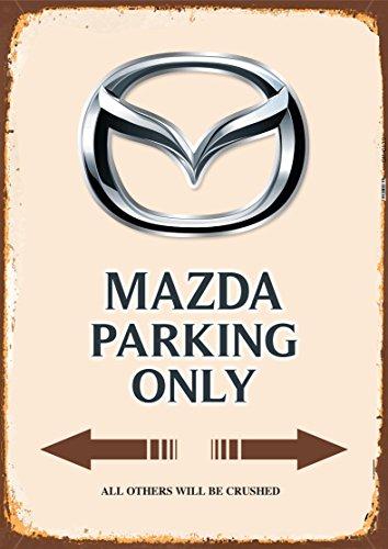 Mazda Parking only blechschild