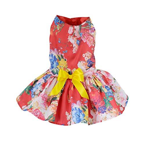 Sunshay Bunte Blumen Haustier Hund Abendkleid Brautkleid Tutu Kleid Welpen Rock Outfit Hund Kleidung...