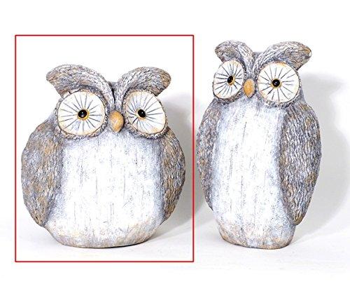 Figurine animale Figurine * Hibou * Polystone Gris – H31 cm