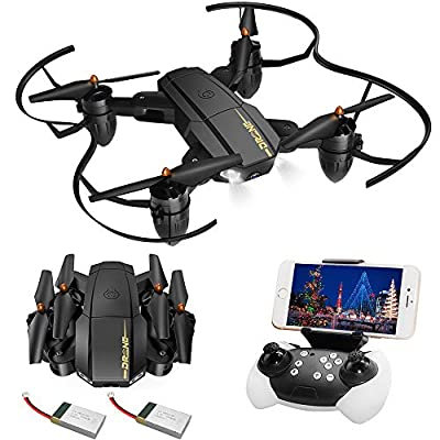 JoyGeek Drone with Camera for Kids Gifts, Foldable FPV RC Quadcopter for Adults Beginners Men, Wifi Live Video VR Gyroscope Aircraft Altitude Hover Remote Control Plane Helicopter for iPhone Android