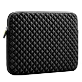 Laptop Sleeve, Evecase 11.6'' ~ 12.5'' Diamond Foam Splash & Shock Resistant Neoprene Sleeve Case Travel Bag for Acer, ASUS, Apple, Sony, HP, Dell, Lenovo, Toshiba Laptop, Chromebook, Ultrabook, Notebook, Tablet, PC - Black