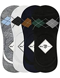 Big Tree C05A3010XXCT Cotton Loafer Socks, All Pack of 4 (Multicolour)