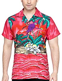 SWEET NECTAR Men's Regular Fit Classic Short Sleeve Casual Floral Hawaiian Shirt