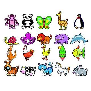 Andreu Toys 20,6x 19x 4,5cm Zwanzig magnetische Tiere Spielzeug (Mehrfarbig)
