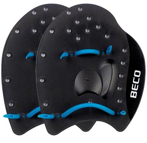 BECO Power Handpaddles Aqua Fitness Wasser Sport Schwimmen Training L schwarz