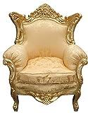 Casa Padrino Barock Wohnzimmer Set Gold Blumen Muster/ Gold – 3er Sofa+2er Sofa + 1 Sessel - 2