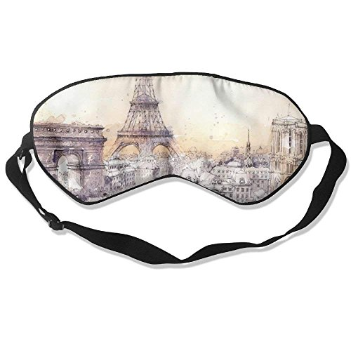 Preisvergleich Produktbild Adult Children Unisex Watercolor City Paris London Eyeshade Sleep Mask Eye Mask