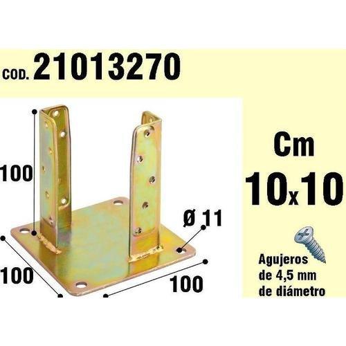 Wolfpack 21013270 Support bois pour ancrage bichromaté longueur 100 mm