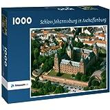 Schloss Johannisburg in Aschaffenburg - Puzzle 1000 Teile mit Bild von oben
