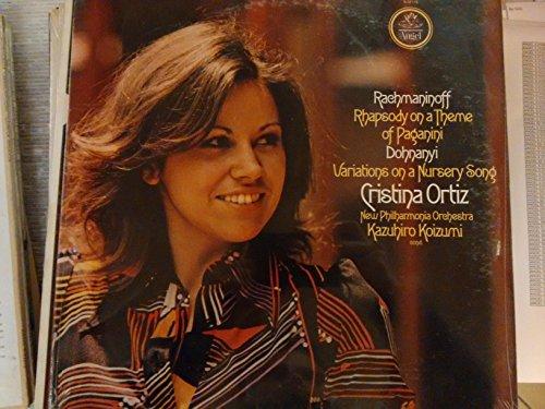 "RACHMANINOV Rhapsody on a theme of Paganini - DOHNANYI Variations on a Nursery Songs--ANGEL S 37178-VINYL printed in USA-Vinyl LP-DOHNANYI Ernst ""ErnÃ?"" von (Ungheria); RACHMANINOV Sergei (Russia)-KOIZUMI Kazuhiro (dir); New Philharmonia Orchestra; ORTIZ Cristina (pianoforte)"