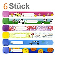 Child Safety ID Wristband, Band Reusable Safety Wristbands for Kids, Variety of Designs and Colours Fully Adjustable