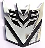 #8: 3D Transformers Universal Silver Car Sticker With Tape Sluggish Automotive