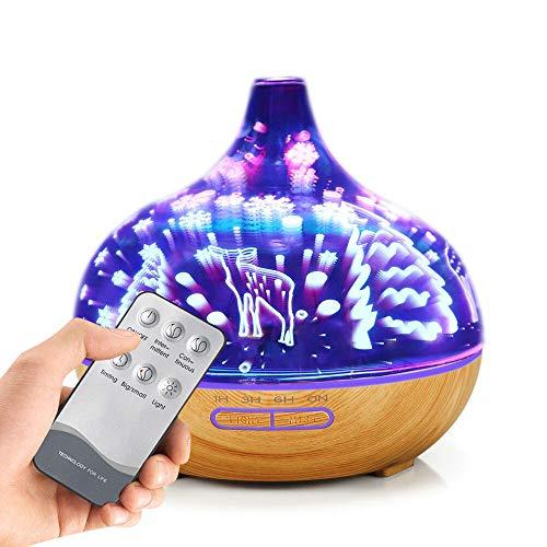 Aroma Diffuser Luftbefeuchter Düfte Humidifier Aromatherapie Reiniger Zerstäuber Ätherische Öle Ultraschall Vernebler Raumbefeuchter Luftreiniger Duftöldiffusoren Haus Baby des Nachtlicht-3D