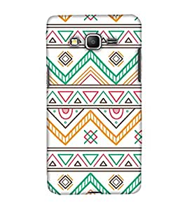 PrintHaat Polycarbonate Designer Back Case Cover for Samsung Galaxy Grand Prime :: Samsung Galaxy Grand Prime Duos :: Samsung Galaxy Grand Prime G530F G530FZ G530Y G530H G530FZ/DS (designer pattern :: decorative design :: zig zag design :: multicolor design :: latest trendy design :: excellent drawing design :: good looking art design :: in black, green, red, blue and yellow)