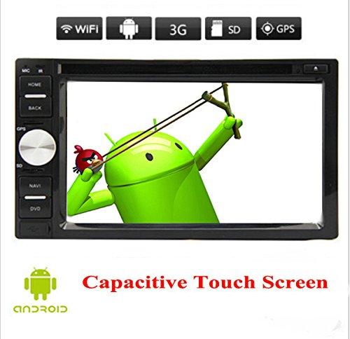 Android 5.1 Stereo 3D GPS capacitif Systššme Tactile multimšŠdia CD de piššCes pour všŠhicules FM AM Autoradio Bluetooth Voiture Lecteur DVD vidšŠo RšŠcepteur Radio 2 Din Audio 6.2 Pouces iPod Logo