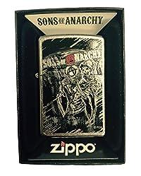 Zippo Custom Lighter - Samcro Sons of Anarchy with Anarchy Reaper - Regular Street Chrome