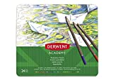 Derwent Academy Watercolour - Lápices acuarelables (24 colores)