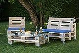 PALma Palettenmöbel Gartensitzgruppe aus hochwertigen Möbelpaletten … (mit Rollen, helle Paletten)