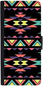 Snoogg Aztec Dark Digital Graphic Snap On Hard Back Leather + Pc Flip Cover A...