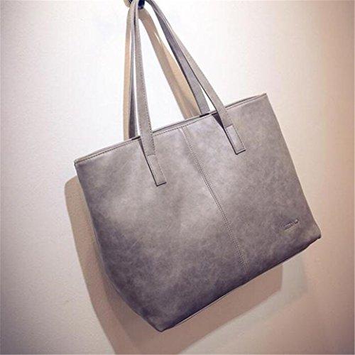 Sac à main femme, Fami épaule Fashion Tote Grande bourse Messenger Gris