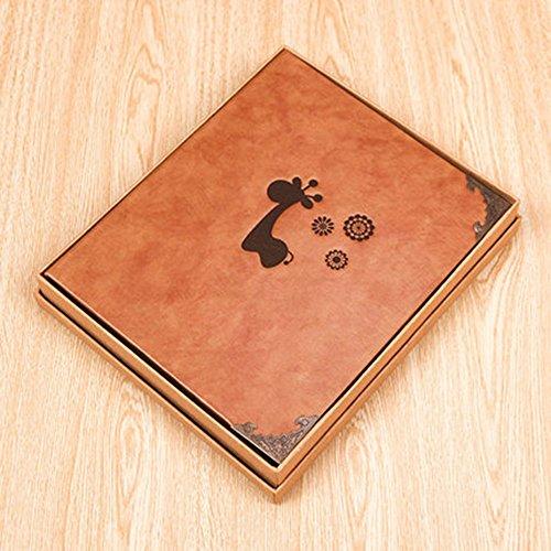 xiduobao Special Cute Leder Fotoalbum Special Scrapbook DIY Anniversary Scrapbook Album, Vintage Fotoalbum, Hochzeitsalbum, niedliche Tiere Baby Album.