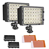 Neewer 2-Pack 160 LED CN-160 Dimmbare Ultra Hoch Power Panel Digitalkamera/Camcorder Video Licht, LED Licht für Canon, Nikon, Pentax, Panasonic, SONY, Samsung und Olympus Digital SLR Kameras