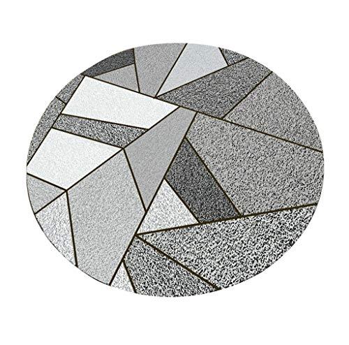 Tapis Rond Tapis géométrique créatif de Tapis de Mode pour Le Salon Chambre à Coucher Couverture de Chevet Table Basse Panier Chaise Coussin Décoration (Couleur : #1, Taille : Diameter 120cm)