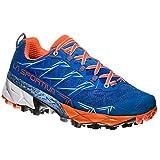 LA SPORTIVA Akyra Woman, Scarpe da Trail Running Unisex - Adulto, Multicolore (Blu Oltremare/Arancione (Marine Blue/Lily Orange 000), 38 EU