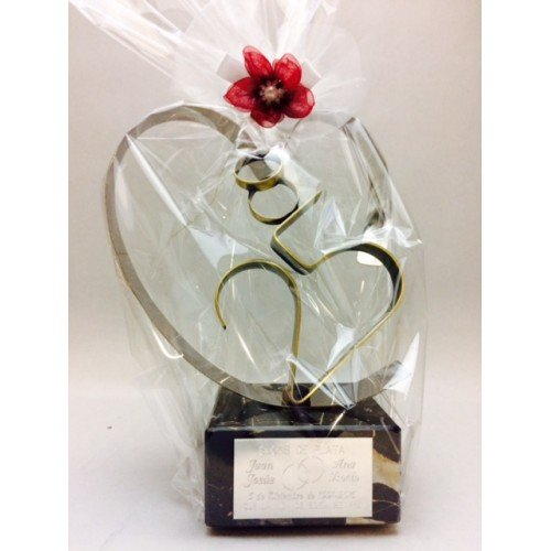 Gift for silver wedding ENGRAVED figure heart 25 anniversary gifts CUSTOMIZED