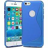 Blau TPU Silikon Gel Skin Schutzhülle S-Line Sline für Apple iPhone 6S Plus Schutzhülle