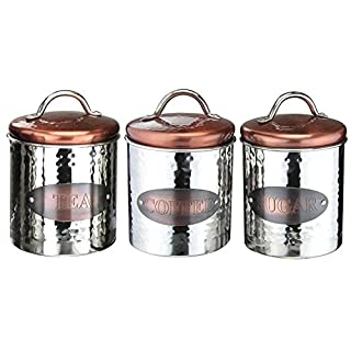 Apollo Housewares Tea Coffee Sugar Canister Kitchen Food Containers Storage Set