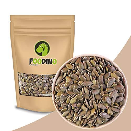 Kürbiskerne geschält grün unbehandelt ungesalzen naturbelassen ungeschwefelt Kürbis Kerne ohne Schale 100% Natural 500g - 5kg wiederverschließbar Premium Qualität FOODINO (5kg)