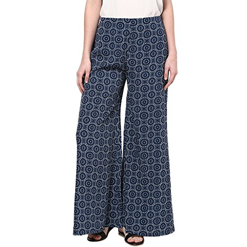 WOMEN'S BLUE FLAIRED PALLAZO