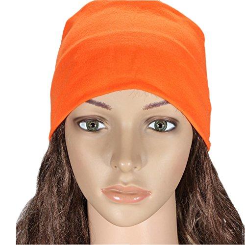 Candy Colore da donna elasticizzati Ampia fascia sport running Yoga danza fascia per capelli turbante Wrap sciarpa, Orange