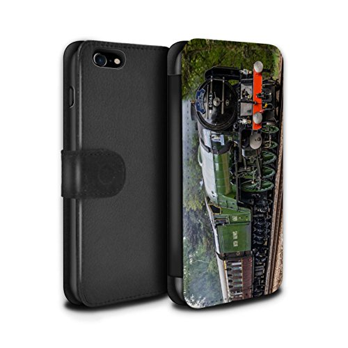 Stuff4 Coque/Etui/Housse Cuir PU Case/Cover pour Apple iPhone 8 / Tornado/Vert Design / Locomotive Vapeur Collection Tornado/Vert
