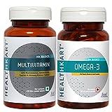HealthKart Daily Essentials Combo (Omega - 60 Capsules + Multivitamin - 60 Capsules)