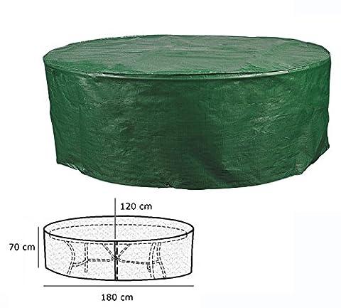 WOLTU GZ1162-a Schutzhülle Abdeckplane Plane Hülle wasserabweisend Grün oval rund für Gartentisch 70x180x120