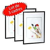 Lot de 3 cadres photo Galeria A4 Noir