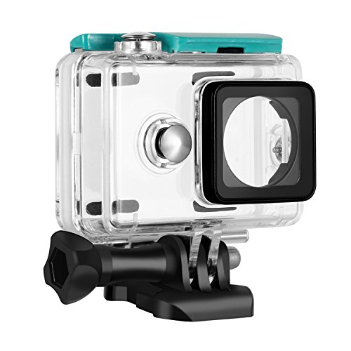Rhodesy Waterproof Protective Housing Protective Case Cover with Bracket &  Screw Diving depth 40m For Xiaomi Yi Action Camera only Green