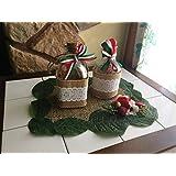 La favola encantado® – Juego 3 piezas Menage Aceitera vinagrera decorados a mano con Centrino